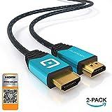GUARDIEN Câble HDMI 4K 1,8m - Certifié Premium - Ultra HD 2160p, Full HD 1080p, 3D,...