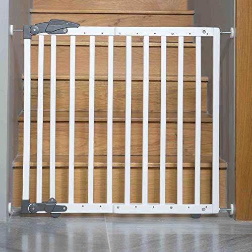Geuther 2714 WE Türschutzgitter zum Klemmen oder Schwenken 2in1, 2714, In Verstellbereich, 68-102 cm, weiß, 3.9 kg