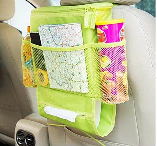 UrCool Autositz organizer Auto Seat Multi-Pocket Aufbewahrungstasche mit Compartments Autositzrückgetränkehalter Kühler Speicher Beutel (Wärmeerhaltung) Grün