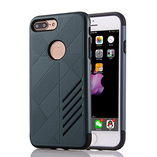 """HYAIT® For IPHONE 7 PLUS 5.5"""" [CONTRAST]Case Dual Layer Hybrid Armor Rugged Plastic Hard Shell Flexible TPU Bumper Protective Cover-XJAE04 BHE01"""