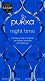 Pukka Night Time Herbal Tea Bags - Organic Valerian, Lavender & Chamomile - Naturally Caffeine Free (Pack of 4)