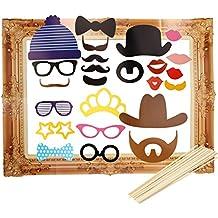 Tinksky Cabina grande del cuadro marco foto atrezzo fiesta 24-pack de caras divertidas