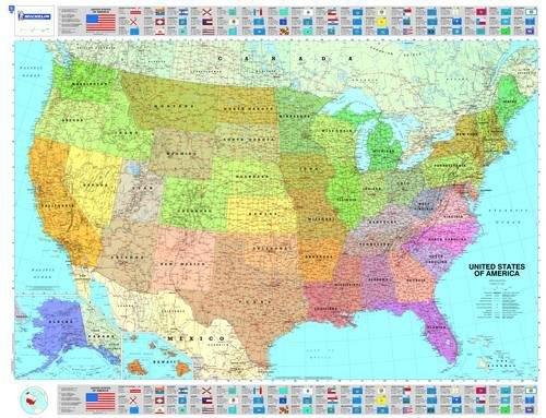 U.S.A. politica 1:3.450.000: Political (Carte murali) por Michelin Staff