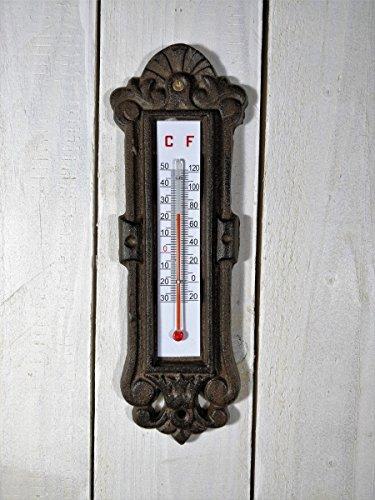 G2831 Gusseisen Gute QualitäT Antikes Außenthermometer Fenster Thermometer In Nostalgieform