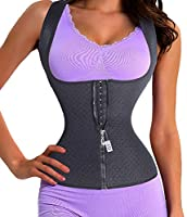 Women Waist Trainer Corset Slim Belt Zipper With Hook Lumbar Support Back Brace (Small, Black(warmer))