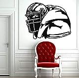 Wandaufkleber Rugby Aufkleber American Football Sport Home Interior Wandbilder Kunst Dekoration Wohnkultur Vinyl 69 * 57 cm