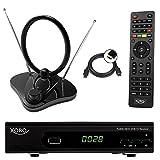 Xoro HRT 7620 FullHD HEVC DVBT/T2 Receiver (HDTV, HDMI, PVR, SCART, USB 2.0, LAN) + 30 DVB- T2 Antenne
