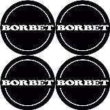 Borbet 4 Stück★ 55mm Aufkleber Emblem für Felgen Nabendeckel Radkappen