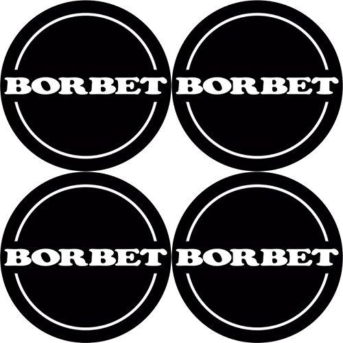 Borbet 4 Stück★ 60mm Aufkleber Emblem für Felgen Nabendeckel Radkappen