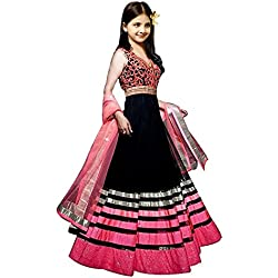 S R Fashion Girl's Georgette Salwar Suit (SRF_Shalwar Suit_Girls_69_Multi-Coloured_Free Size)
