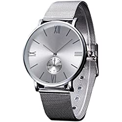 HARRYSTORE Women's Watches Analog Quartz Wrist Watch Sliver