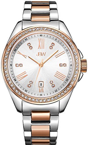JBW WOMEN'S CAPRI DIAMOND 38MM TWO TONE STEEL BRACELET QUARTZ WATCH J6340C
