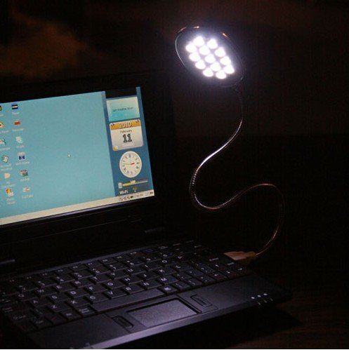 Technotech 13 USB LED Light Flexible Neck Lamp for Laptop PC (Color May Vary)