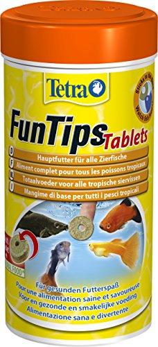 Tetra FunTips Tablets Haft-Futtertabletten, Hauptfutter, haftet an der Scheibe, zum Fische beobachten, 300 ml Dose