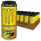 Monster Energy The Doctor Energy Drink, Valentino Rossi Special Edition mit prickelndem Zitrusgeschmack, Dosen-Palette, EINWEG (24 x 500ml)