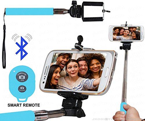 Selfie Stick Monopod With Bluetooth Remote Wireless Shutter Connectivity Compatible For Samsung Galaxy J7 J700F - Cyan  available at amazon for Rs.199