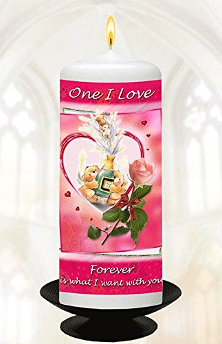 one-i-love-6-white-wax-candle-with-special-verse-forever-is-what-i-want-with-you