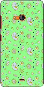The Racoon Lean printed designer hard back mobile phone case cover for Microsoft Lumia 540. (Neon Cute)