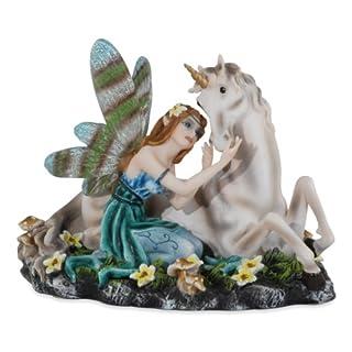 Les Alpes Sammlerfigur Fee ALIVA - zauberhafte Feenfigur aus hochwertigem Kunstharz - liebevolle und aufwendige Handbemalung mit vielen Details - Größe 15 cm