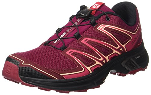 Salomon Wings Flyte 2 W, Zapatillas de Trail Running para Mujer, Rojo (Beet Red/Cabernet/Black 000), 39 1/3 EU