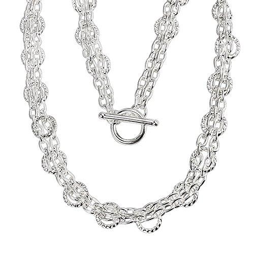 Fashion Schmuck versilbert Verlobungsring Hochzeit Halskette Anhänger, Damen Geschenk Mädchen