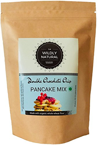 The Wildly Natural Breakfast Pancake & Waffle Mix - Double Chocolate Chip - Eggless & Whole Wheat & Brown Sugar (265 GMS)