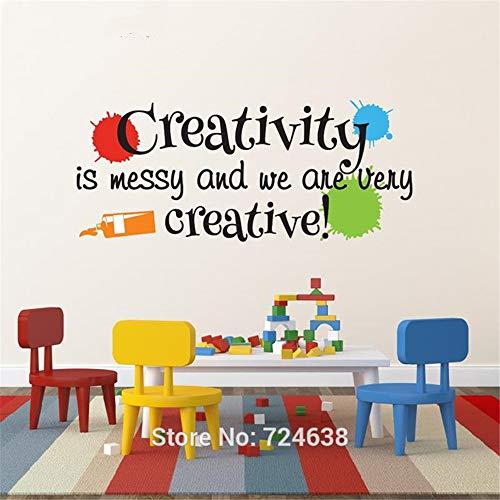 Spielzimmer Wandtattoo - Kreativität ist chaotisch und wir sind sehr kreativ mit Farbe splats Kinderzimmer Dekor - Meisterwerke Spielzimmer Dekor andere Farben 40x88cm