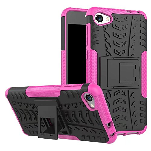 YHUISEN Alcatel A5 LED Case, Hyun Pattern Dual Layer Hybrid Armor Kickstand 2 in 1 Shockproof Case Cover für Alcatel A5 LED ( Color : Blue ) Pink