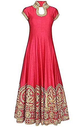 Sacred fashion gown Women's Cotton Silk Semi-Stitched gown (Free Size)