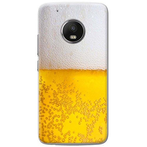 Nahaufnahme schaumiges Bier weiße Krone Hartschalenhülle Telefonhülle zum Aufstecken für Motorola Moto G5 Play