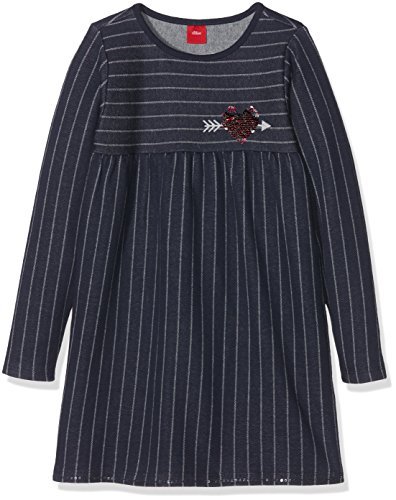 s.Oliver Mädchen Kleid 53.710.82.2725, Blau (Dark Blue Stripes 58G4), 92 (Casual Stripe Kleid)