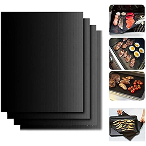 Barbacoa–Alfombrilla begrit antiadherente barbacoa Alfombrillas para cocinar o hornear, 15,75x 13