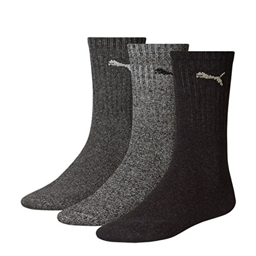 Puma Crew Socks Sport Socks 6er Pack = 6 Paar, Anthracite/Grey, 39/42 (6-pack Quarter Sock)