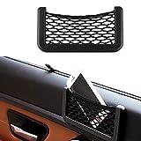 Ularmo 15X8cm Voiture stockage Net automobile organiseur de poche pour téléphone Mobile titulaire pochette Auto adhésif Visor boîte pour auto...