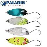 4 Paladin Trout Spoon 2,7cm 2,0g - Blinker für Forellen & Barsche Spinnköder für Forellen Blinker zum Forellenangeln Forellenblinker