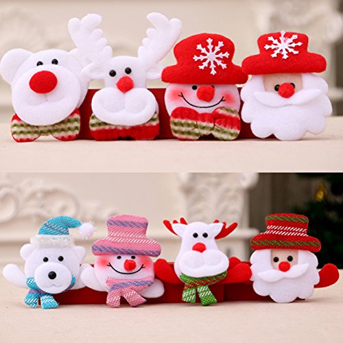 Zhhlinyuan Weihnachtsbrosche 12 PCS Christmas Party Decoration Led Flash Brooch Pin Badge Children's Toys Halloween Gift