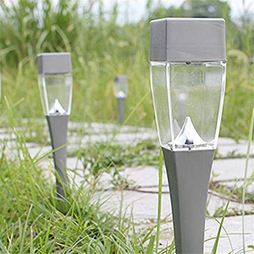 Led Solar Wasserdichte Licht Outdoor Solar Rasen Garten Lichter Landschaft Track Pile Lampe Grau 45 * 380Mm (2 Stücke)