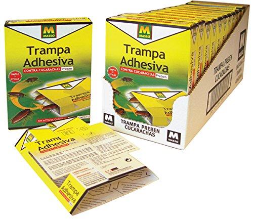 PREBEN 231074 Trampa Adhesiva cucarachas, Transparente, 12.5x17x3 cm