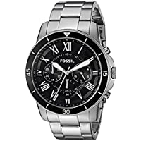 Fossil Mens Quartz Watch, Chronograph Display and Stainless Steel Strap FS5236