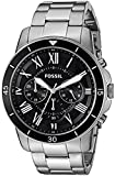 Fossil Men's Grant FS5236 Silver Stainless-Steel Quartz Dress Watch