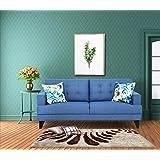 Urban Living Columbus Three Seater Sectional Sofa (Blue)
