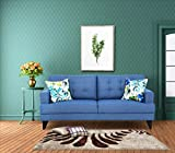 #10: Urban Living Columbus Three Seater Sectional Sofa (Blue)