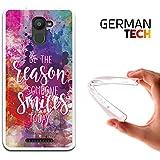 Funda Gel para Bq Aquaris U Plus, Carcasa TPU Flexible fabricada con la mejor Silicona, protege y se adapta a la perfección a tu Smartphone y con nuestro exclusivo diseño German Tech®. Razón para sonreír.
