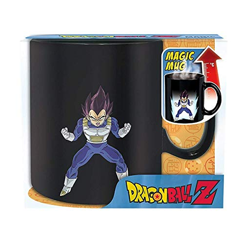 Dragonball Z - Keramik Thermoeffekt Tasse Riesentasse 460 ml - Vegeta & Shenlong Logo - - Dragon Ball Z Cell Kostüm