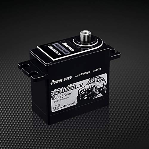 Webla - Power Hd Dw-25Lv Wasserdichter Hochgeschwindigkeits-Servo für Metallgetriebe mit 25 Kg Spannung für 1/10 Rc Accessary Car