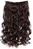 PRETTYSHOP 70cm oder 55cm Clip In Extensions Halbperücke Haarverlängerung Haarverdichtung