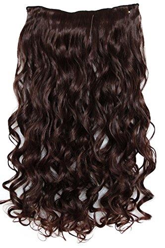 PRETTYSHOP 55cm Ombré Two-Tone Clip In Extensions Halbperücke Haarverlängerung Haarverdichtung Haarteil hitzebeständig wie Echthaar C58a-1
