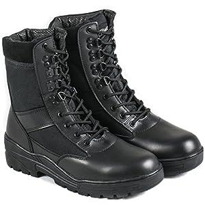 Nitehawk - Bottes militaires - imitation cuir - noir