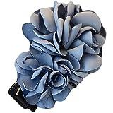 La fleur de simulation Pinces à cheveux décorations de cheveux (Bleu Gris)...