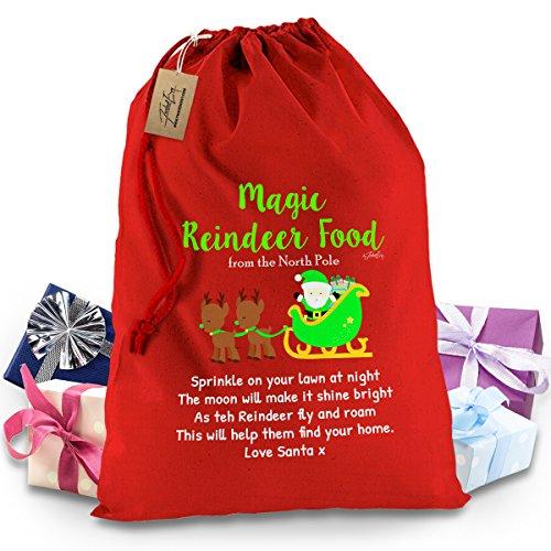 Magic Renna alimentare rosso Babbo Natale calza di Natale regalo borsa XL